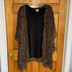 Leopard kimono and tank top size 2X
